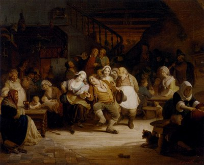 Figures In A Tavern