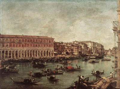 The Grand Canal at th Fish Market, Pescheria