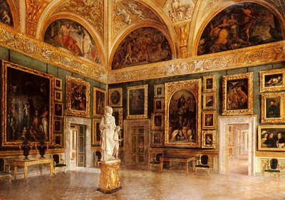 The Interior Of The Pitti Palace