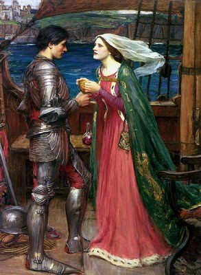 Tristan and Isolde Sharing the Potion