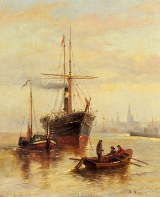 A Harbor Scene With A View Of Venice