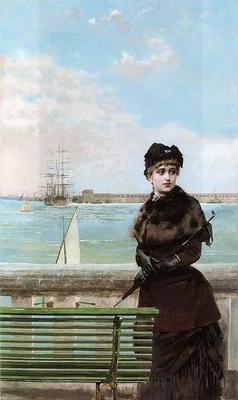An elegant Woman at St. Malo