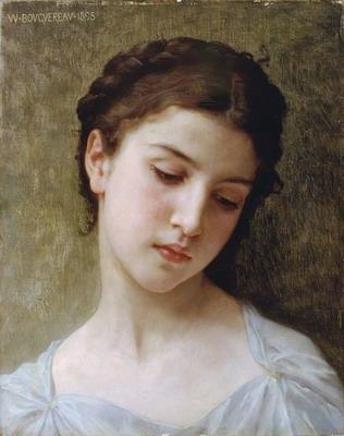 Etude Tete de Jeune fille, head of a young girl