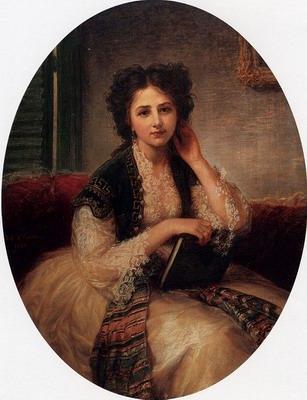 Mademoiselle Helene Cassavetti Three Quarter Length