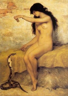 The Nude Snake Charmer