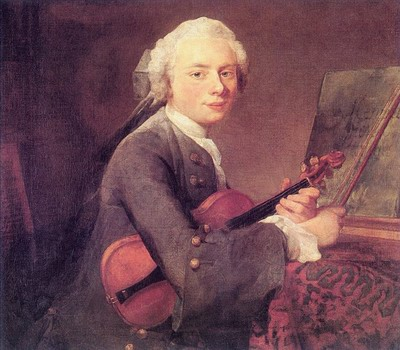 Young Man with a Violin, Charles Godefroy