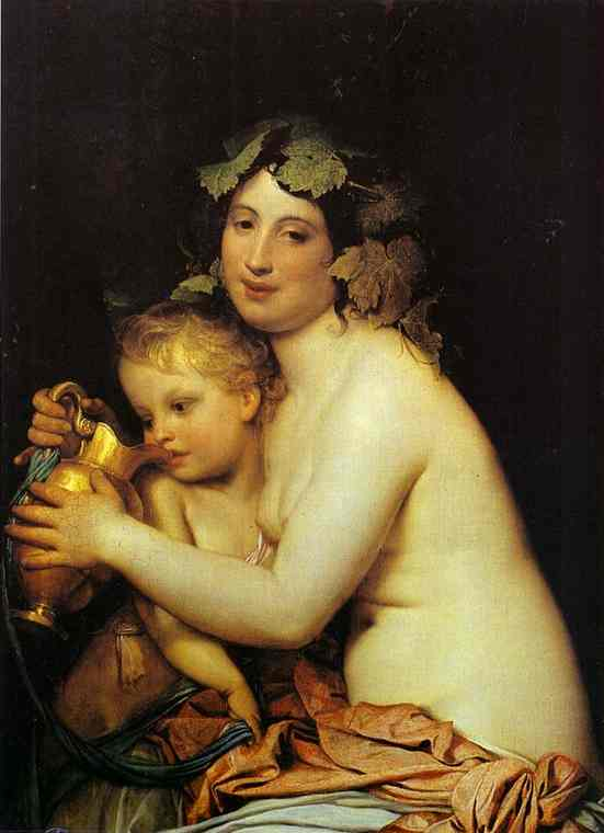 Bacchante Giving Wine to Cupid. 1828