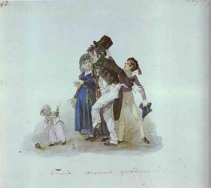 Get Married, Gentlemen! That Would Come in Very Handy! 1840