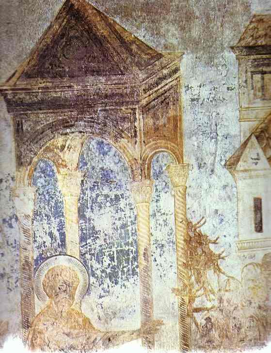 Healing of a Sick Man. Detail. Fresco.