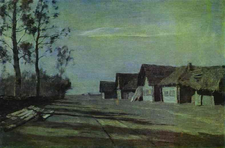 Moonlit Night. A Village. 1897