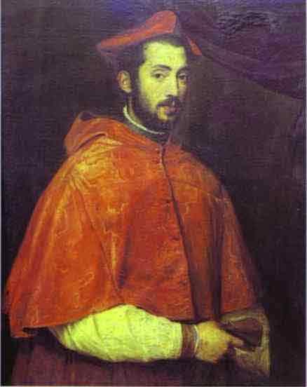 Portrait of Cardinal Alessandro Farnese. 1545