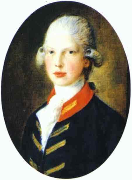 Portrait of Prince Edward, Later Duke of Kent. 1782
