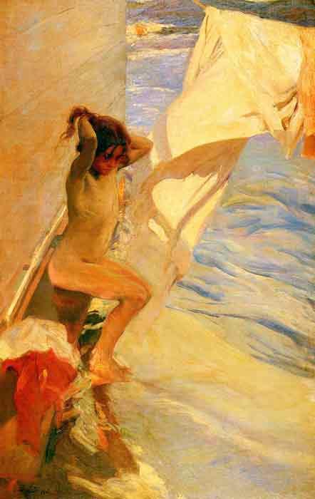 Antes del bano [Before Bathing], 1909