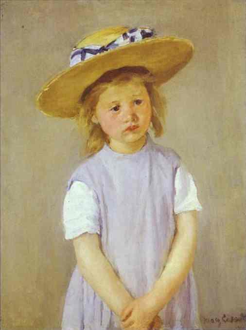 Child in a Straw Hat. c. 1886