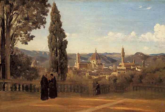 Florence - The Boboli Gardens, c.1834-1835