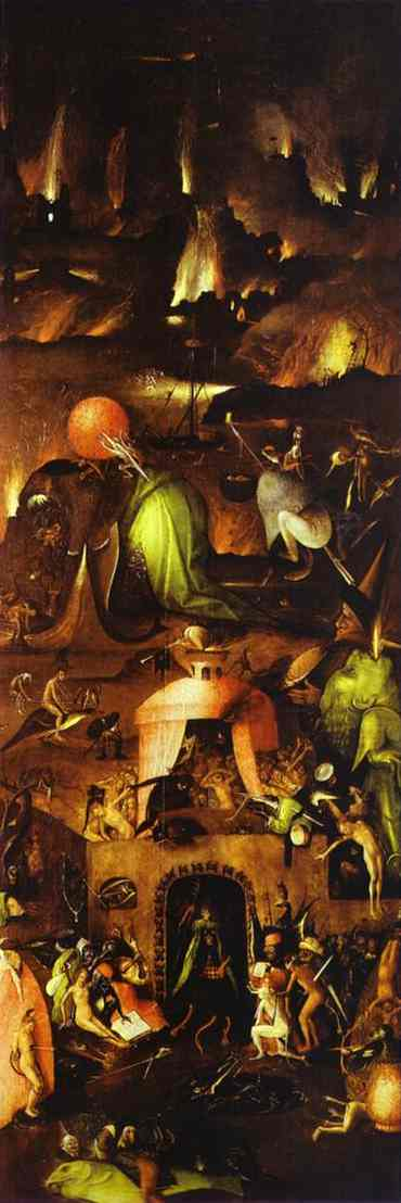 Hell. Right wing of the Last Judgement triptych. 1500