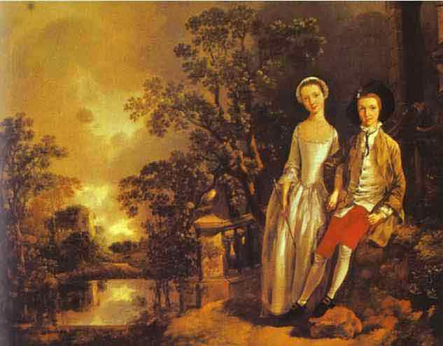 Heneage Lloyd and His Sister. 1750