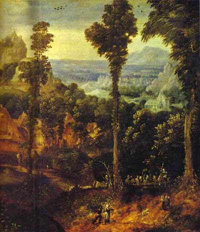 Herri Met de Bles Flight into Egypt
