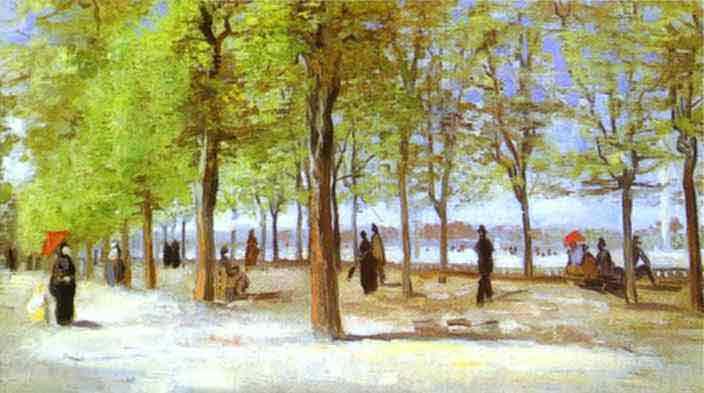 In the Jardin du Luxembourg. 1886