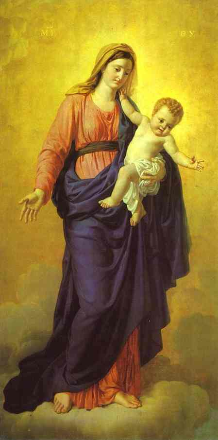 Madonna with the Child. The Icon from Kazan Cathedral. 1807