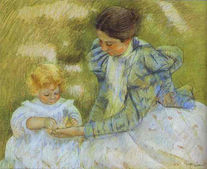 Mother Playing with Her Child. c.1897