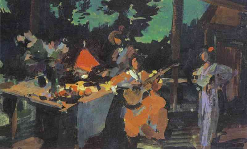 On a Terrace. Evening in the Coutry. 1901