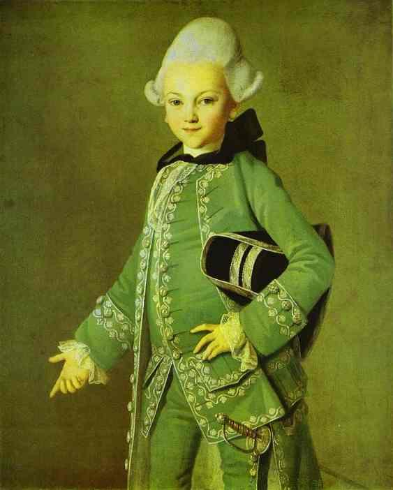 Portrait of Alexey Bobrinsky as a Child. 1769