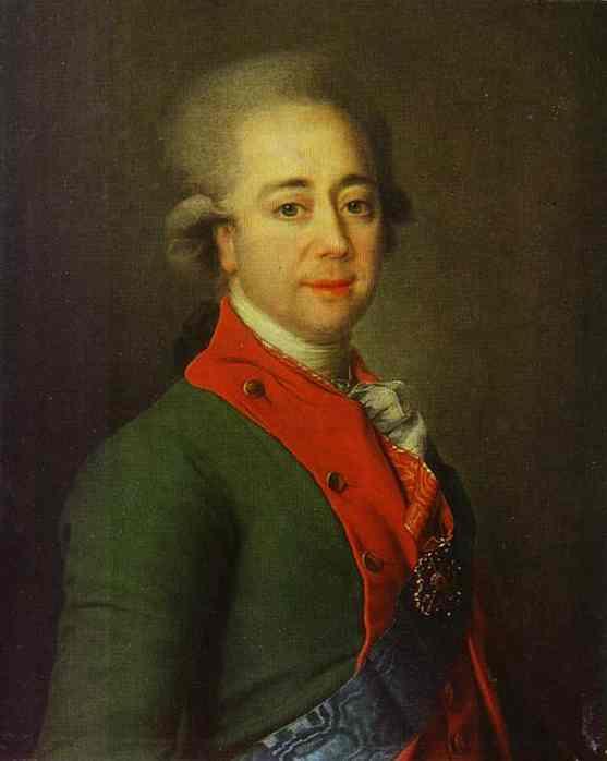Portrait of Baron A. N. Stroganoff. 1780