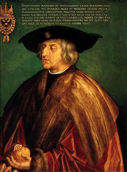 Portrait of Emperor Maximillian I, 1519