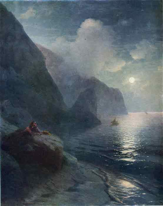 Pushkin by the cliffs in the Crimea, 1880