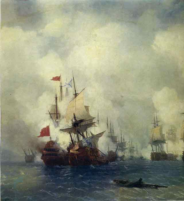 The Battle in the Straits of Chios, 1848