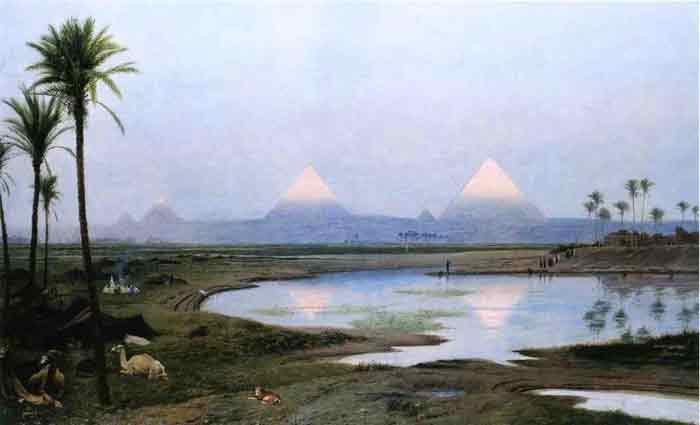 The Pyramids, Sunrise , 1895