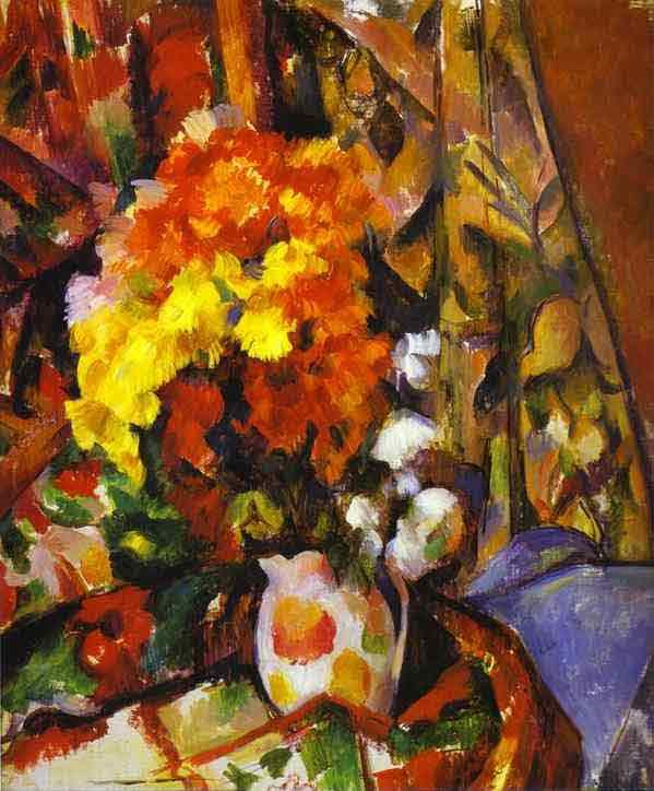 Vase with Flowers. Chrysanthemums. c. 1900