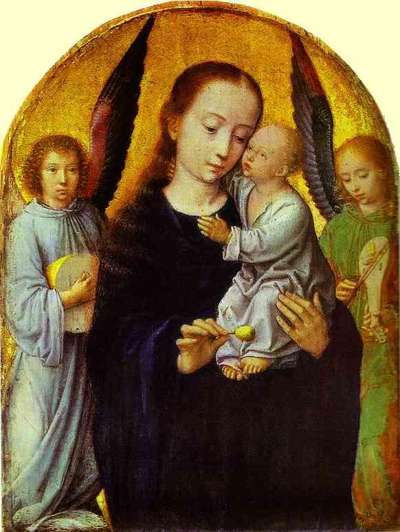Virgin with Child between Angel Musicians.
