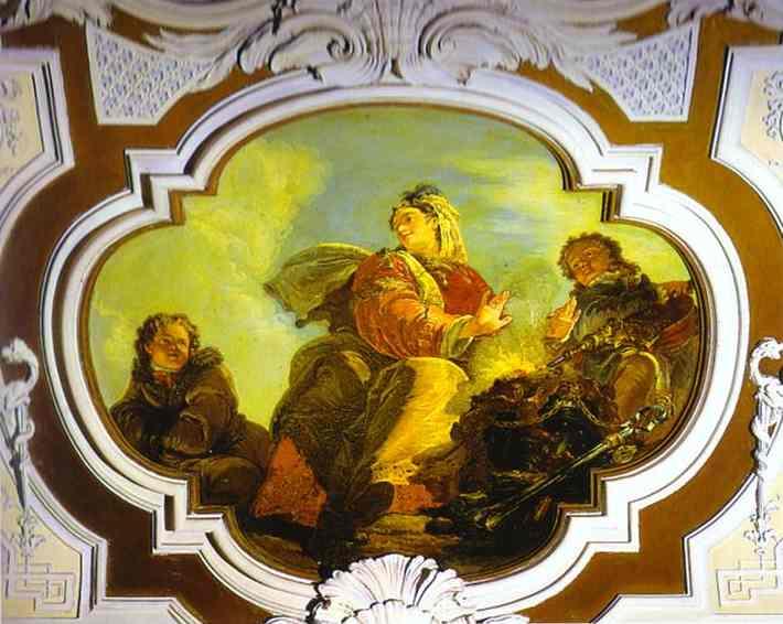 Winter. Fresco in Palazzo Contarini, Venice, Italy.