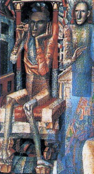 Man and Woman. Detail. 1912
