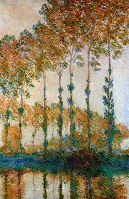 Poplars on the Banks of the River Epte in Autumn, 1891