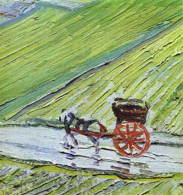 A Road in Auvers after the Rain. Detail. 1890