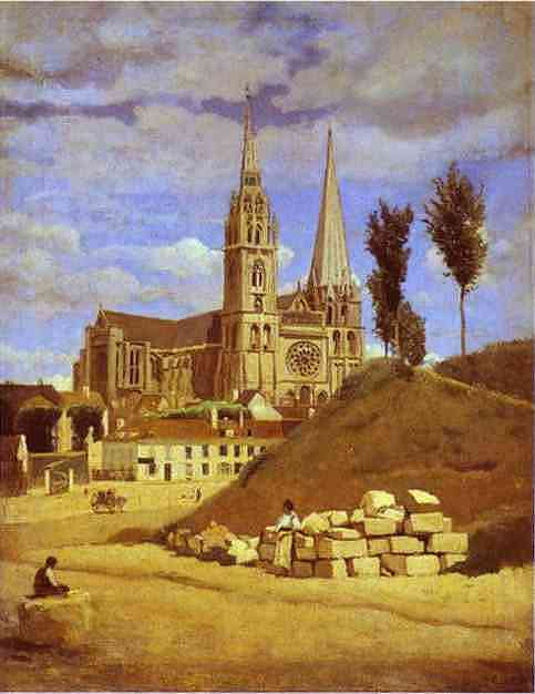 Chartres Cathedral. 1830