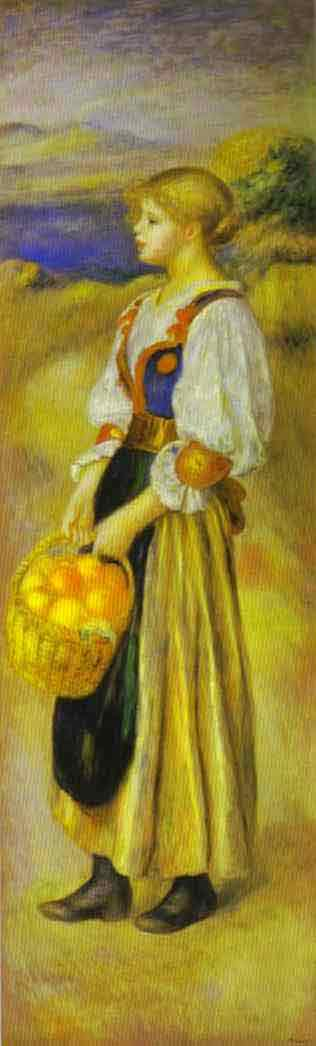 Girl with a Basket of Oranges. c.1889