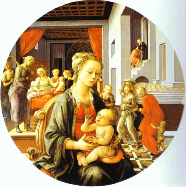 Madonna and Child with Stories of the Life of St. Anne. 1452