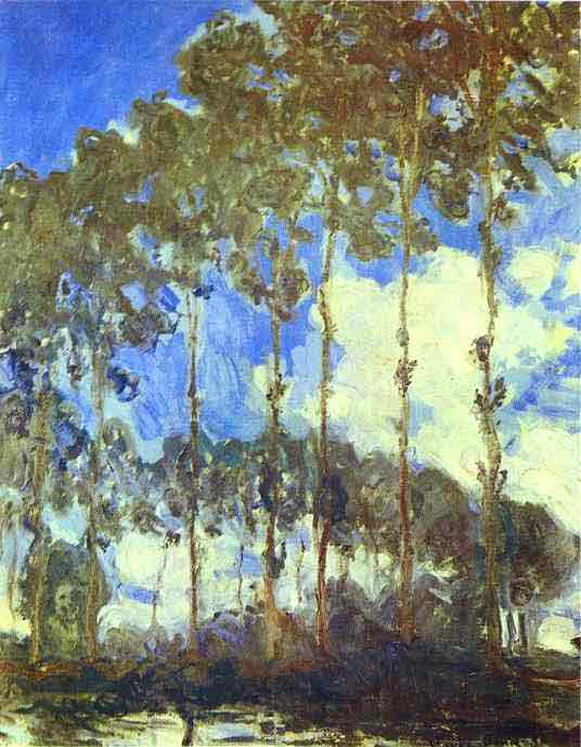 Poplars on the Bank of the River Epte 1890.