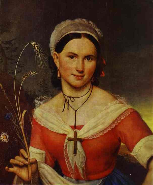 Portrait of Ye. A. Teleshova. 1828