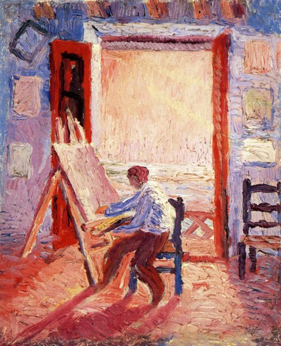 Self-Portrait in the Studio. ca 1919