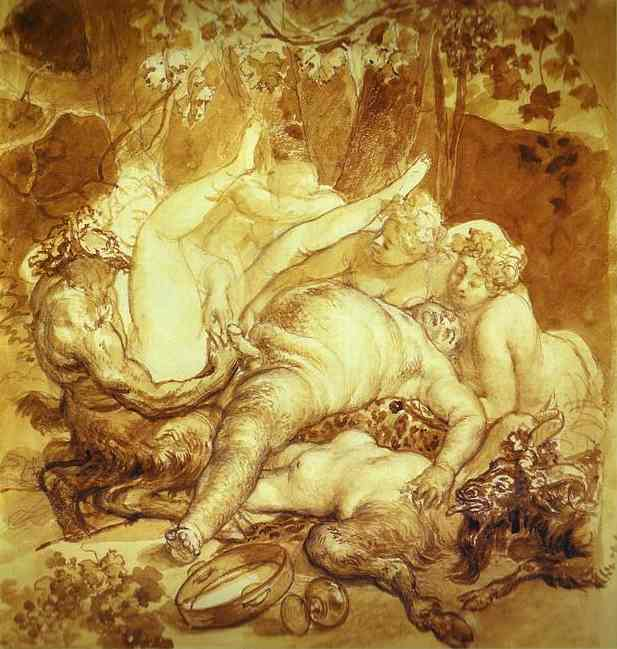 Silen, Satyr and Bacchanals. 1830s