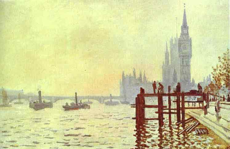The Thames at Westminster (Westminster Bridge). 1871.