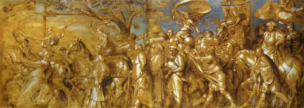 The Triumph of Riches (copy by Lucas Vorsterman the Elder after Hans Holbein the Younger).
