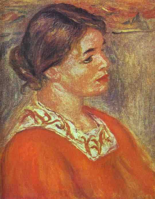 Woman in a Red Blouse. 1890