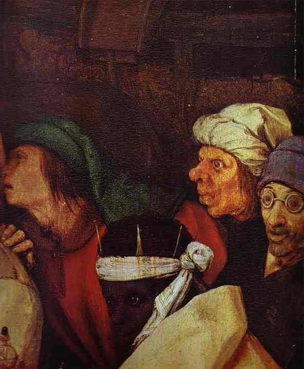 The Adoration of the Kings. Detail. 1564