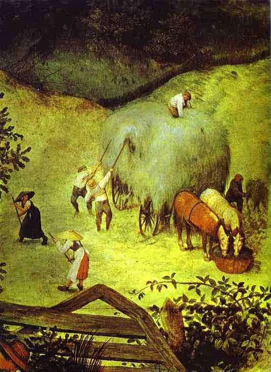 Haymaking (July). Detail. 1565